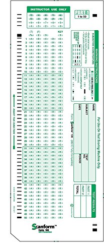 Test Answer Sheet - 6