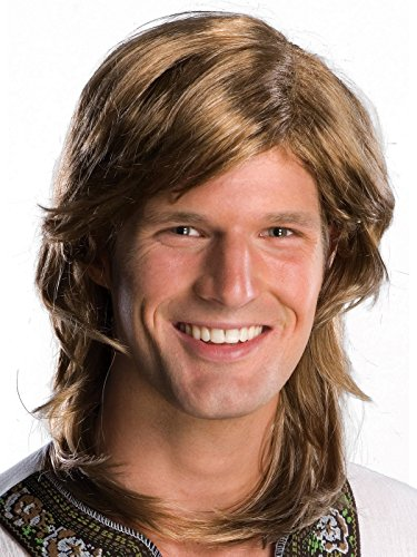 Rubie's 70's Guy Wig, Brown, One -