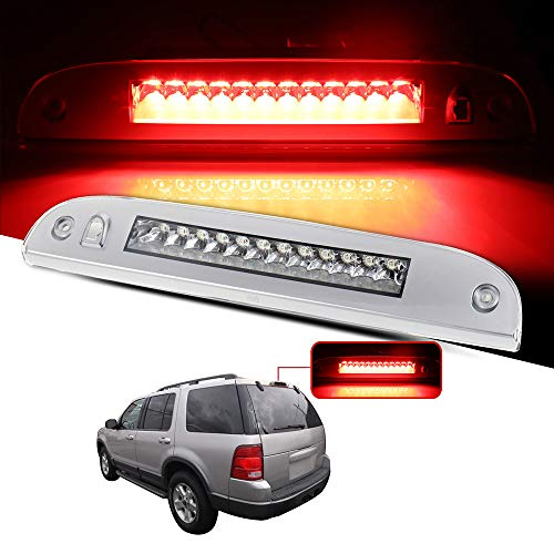 cciyu LED 3rd Brake Lights Cargo Lamp Assembly Automotive Tail Lights Clear Lens Replacement fit for 2002-2010 Ford Explorer Replace 8L2Z13A613A