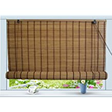 Bamboo Roll Up Window Blind Sun Shade W48 x H84 by Asian Home