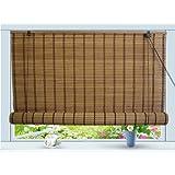 """Bamboo Roll Up Window Blind Sun Shade W48"""" x H84"""""""