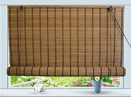 cheap bamboo blinds brown bamboo bamboo roll up window blind sun shade w30quot amazoncom w30