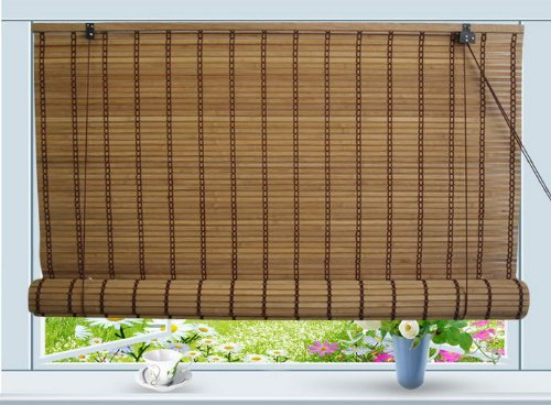 Bamboo Roll Up Window Blind Sun Shade W30