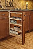 Rev-A-Shelf 432-BFBBSC-3C Pull-Out Between Cabinet Base Filler with Ball-Bearing Soft-Close Slides, 3'', Natural
