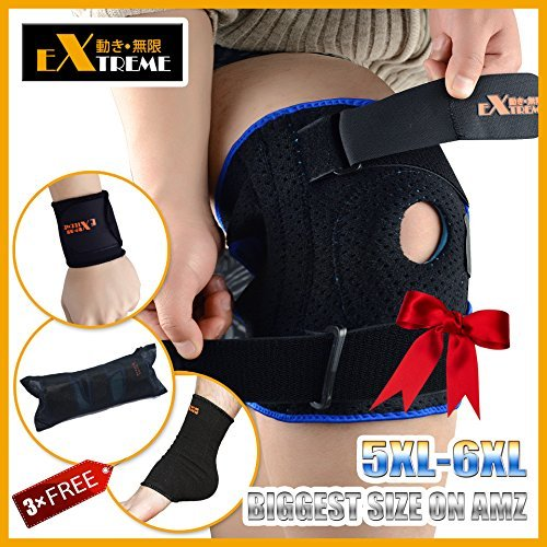 The TRUE BIGGEST Size Knee Brace Support on Amazon for Plus Size By Motion Infiniti - for ACL, Meniscus Tear and Arthritis. 5XL 6XL Extreme Length Extreme Width Extreme Support Special Design
