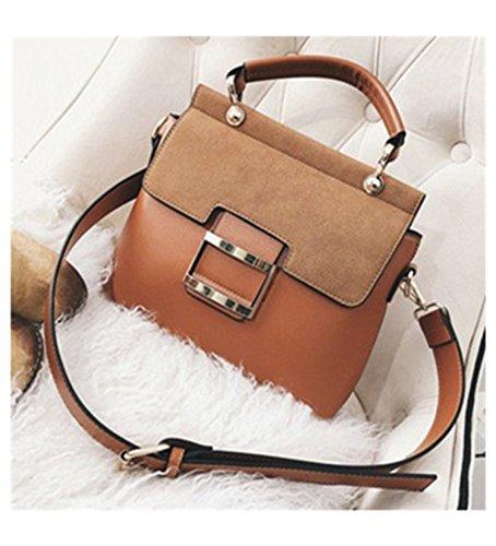 Women Handbags Metal Hasp Female Shoulder Bags Fashion Pu Leathe Women Messenger Bags Tote Briefcase Chocolate