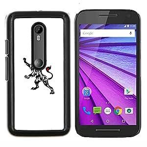 YiPhone /// Prima de resorte delgada de la cubierta del caso de Shell Armor - Tinta Tatuajes Arte Limpio Blanco Negro minimalista - Motorola MOTO G3 / Moto G (3nd Generation)