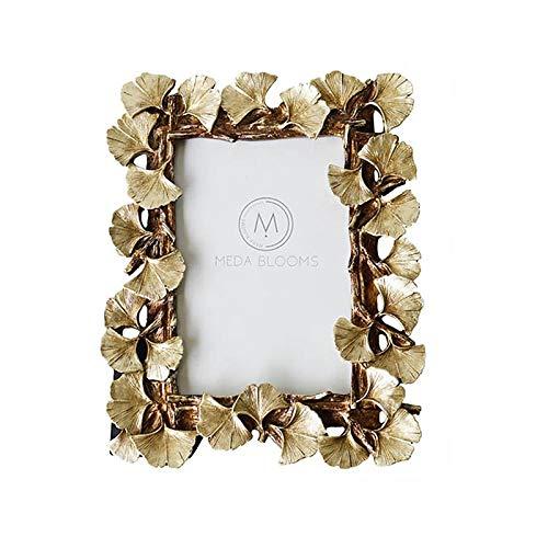 (Retro Frame - Resin Retro Frame Golden Ginkgo Leaf Photo Home Decorations - Golden Wall Gold Frame Pictur Ginkgo Powder Green Cherry Photo Foil Frame Resin Wall Yellow Blossom Frame Ginkgo Leaf G)