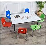 AmazonBasics School Classroom Stack Chair for Kids, Chrome Legs