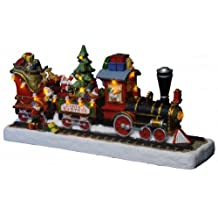 """Star LED-Christmas-Train """"Santas Express"""" ca. 14,5 cm x 30 cm, amber LED battery operated, four colour box with ,,,"""