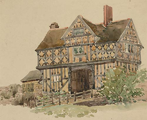 Charles Edward Hannaford RBA - Early 20th Century Watercolour, Stokesay Castle