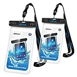 Mpow Waterproof Case,Mpow Universal Dirtproof Shockproof Snowproof Pouch Waterproof Case Bag for iPhone 7/7 Plus/6s / Plus / 6 / 5s / 5 / 5c, Samsung Galaxy S7 / S6 edge / S5 / Note 4 / 3 / 2, (2 Pack, Transparent)
