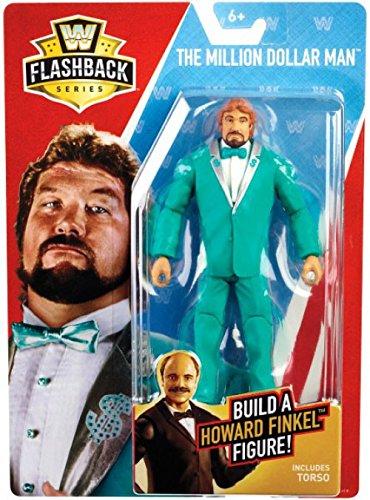 WWE Basic Flashback Series The Million Dollar Man Ted DiBiase Action Figure (Build Howard Finkel)