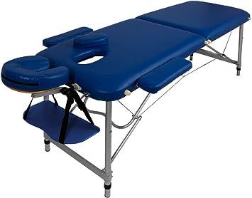 Lettino Da Massaggio Portatile 10 Kg.Lettino Massaggio Massaggi In Alluminio Pesa Solo 10kg Blu Amazon