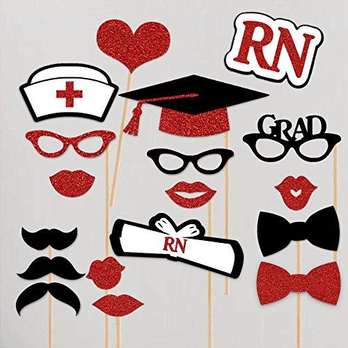 Paper Gala Nurse Graduation Party Photo Booth Props 18 pc...