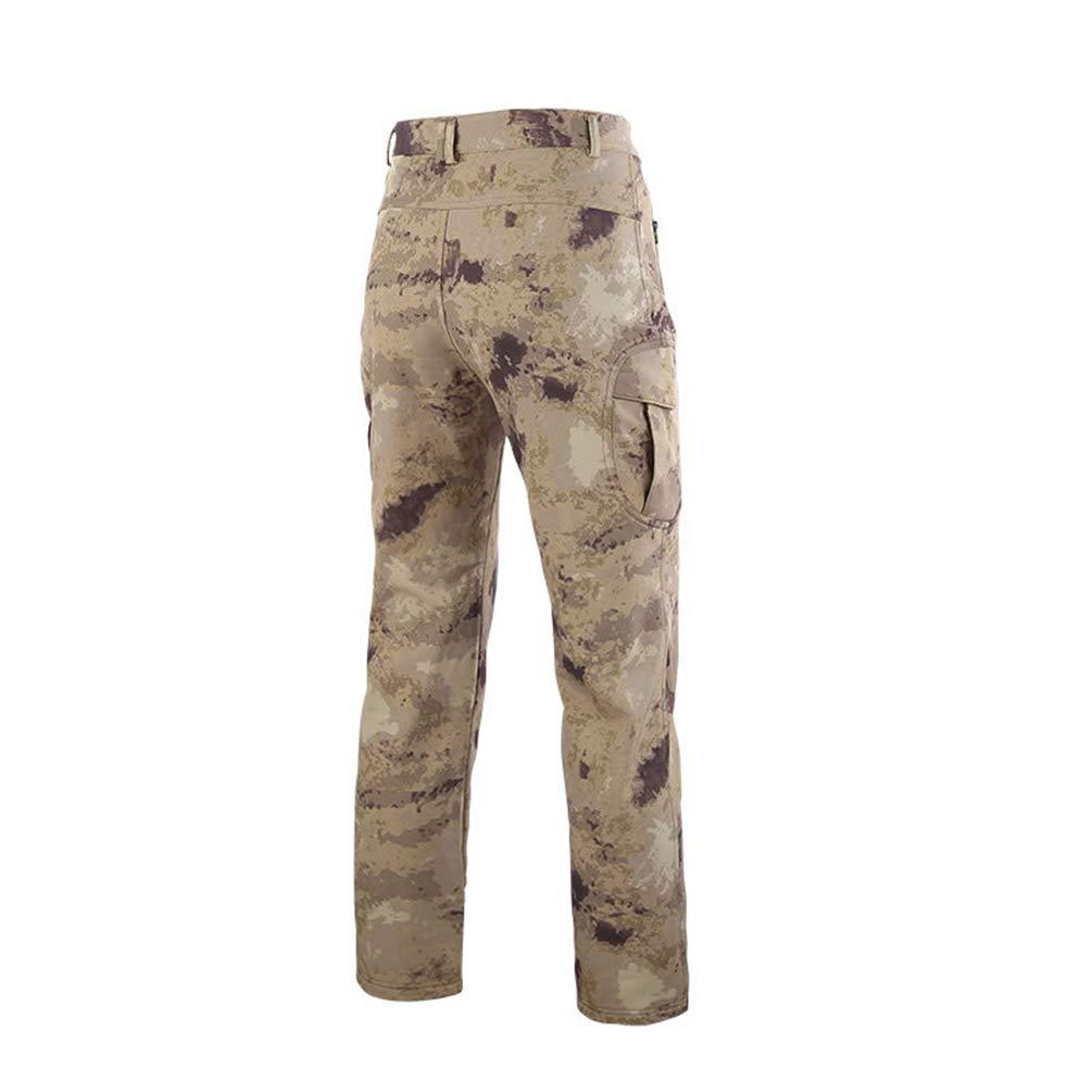 YuanDian Hombre Oto/ño Invierno Outdoor Tactica Camuflaje Pantalones Forro Polar Softshell Impermeable Militar Ej/ército Senderismo Caza Esqu/í Trekking Pantalones De Monta/ña