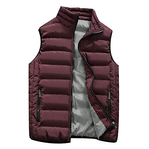 - Sunhusing Winter Men Multi-Color Leisure Warm Gilet Vest Male Pure Color Padded Cotton Waistcoat Warm Down Outwear