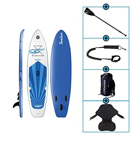 Pack Stand Up Paddle hinchable Sunshine 10 con Leash – Bolsa impermeable y asiento Kayak