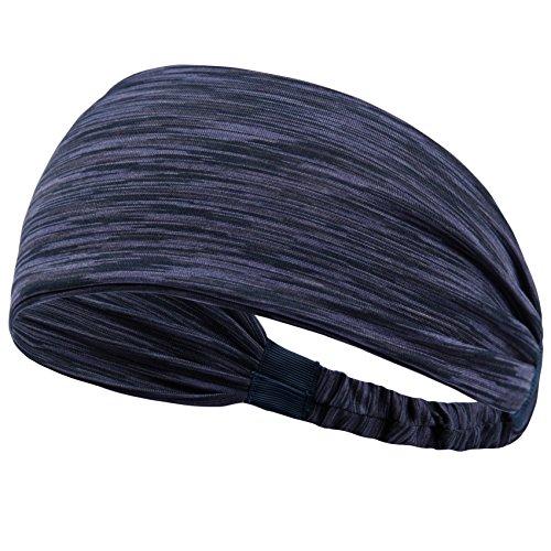 Set Women's Yoga Sport Athletic Headband Sweatband For Running Sports Travel Fitness Elastic Wicking Non Slip Style Bandana Basketball Headbands Headscarf fits all Men & Women (Style 2 - 1 - Mens Style Types