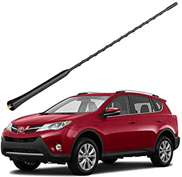 4 Black Aluminum Antenna is Compatible with Nissan Versa AntennaMastsRus 2012-2019 Made in USA