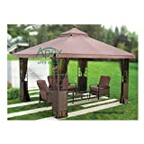 Replacement Canopy for #YH-1103 10'x12' Gazebo - NO Overhang (Brown)