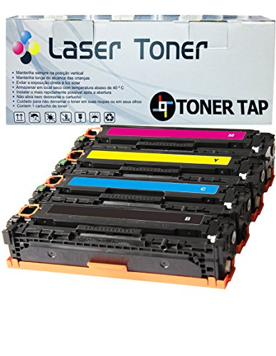 Toner Tap Compatible Toner Cartridge Replacement for HP 312A ( 4-Pack )