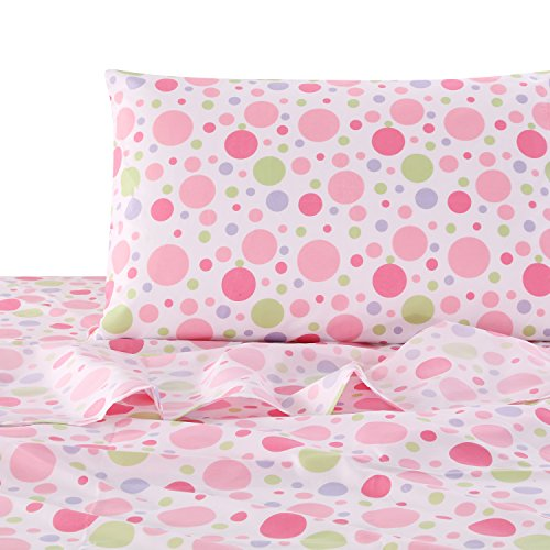 Merrill Girl Full Sheet Set, Pink, Lilac, Green, Dots