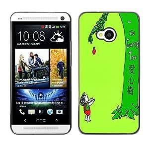- - - Monedero pared Design Premium cuero del tir¨®n magn¨¦tico delgado del caso de la cubierta pata de ca FOR HTC 801e HTC One M7 Funny House