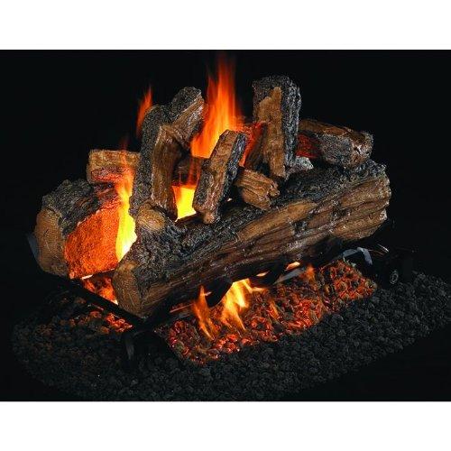 (Peterson Real Fyre 20-inch Split Oak Designer Plus See-thru Gas Log Set With Vented Propane G45 Burner - Manual Safety Pilot)