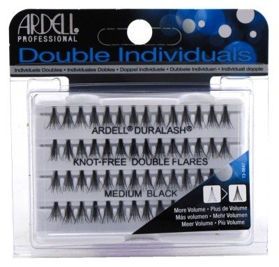Ardell Double Individuals Knot Free Double Flares Black Med (6 Pack) Ardell Individual Eyelashes Flare