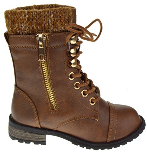 Mango 31K Little Kids Combat Lace Up Boots