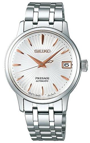 SEIKO PRESAGE Automatic Ladies Cocktail 'Spritzer' Steel Watch SRP853J1