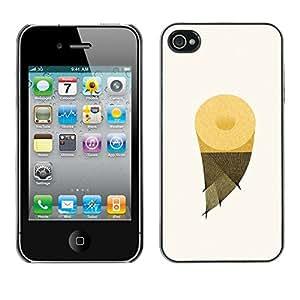GIFT CHOICE / Teléfono Estuche protector Duro Cáscara Funda Cubierta Caso / Hard Case for iPhone 4 / 4S // Pineapple Fruit Slice //