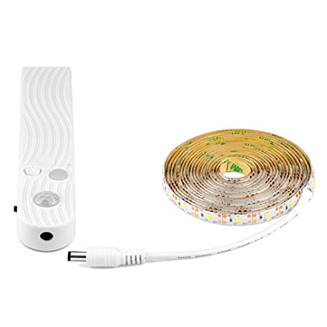 ZXYWW El Armario del Sensor De Movimiento Enciende La Luz con Pilas Blanca De La Batería De 3.2Ft 30 LED para Interior,1Pcs: Amazon.es: Hogar
