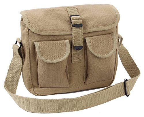 Rothco Canvas Ammo Shoulder Bag, Khaki ()