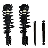 Detroit Axle - Pair (2) Front Struts & Coil Springs and (2) Rear Shocks Absorbers for Chevrolet Cobalt HHR Pontiac G5