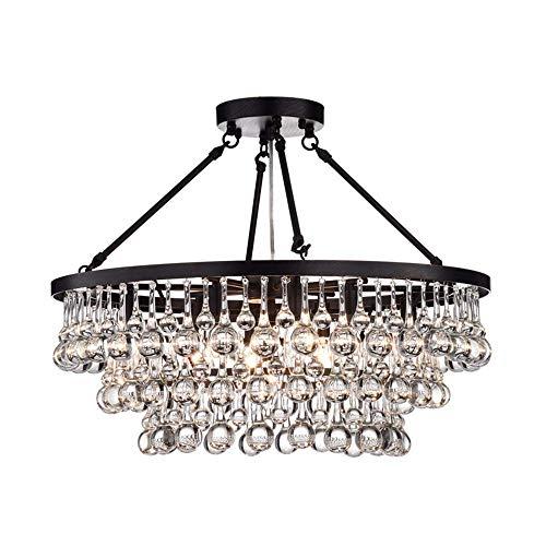 Windsor Home Deco WH-63340 Chandelier, Crystal Hanging Pendant Lights, Crystal Chandelier Bedrooms, Pendant Lighting, Black