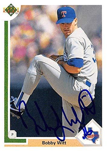 Bobby Witt Autographed Baseball Card Texas Rangers Sc 1991 Upper