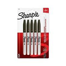 Sharpie FINE POINT Marker Permanent, Permanent Marker Fine, 5-Carded, Black Ink (30665PP)