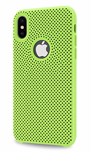 Allinside iPhone XS/iPhone X Case [Motion Series] Dual Layer Protection for iPhone XS/iPhone X Green / Black