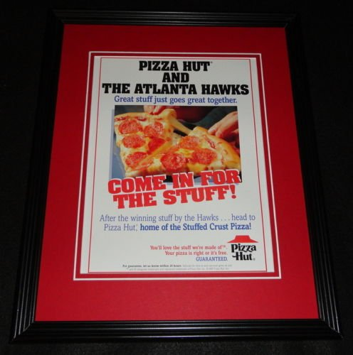1995-pizza-hut-atlanta-hawks-framed-11x14-original-advertisement