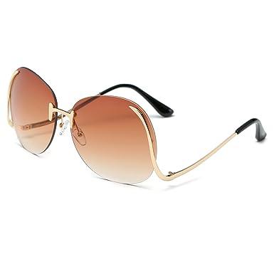 4661b03d13 Rimless Gradient Classic Eyeglasses Sunglasses Optics Metal Frame Women Men  UV400 Vintage Sun Glasses Frame Retro