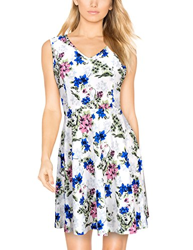 Elywish Women's Summer Casual Fit and Flare Sundress Floral Party Skater Dress (Country Floral Dress)