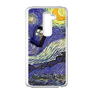 Doctor Who Tardis Police Call Blue Box Starry Night Art Pattern Case For LG G2
