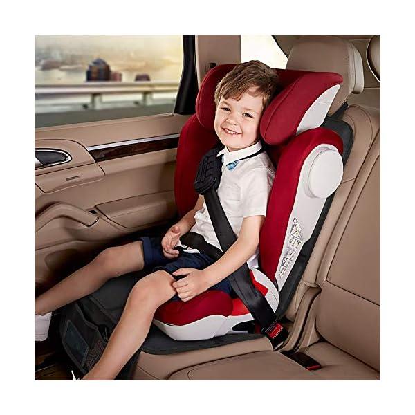 Rovtop 2 Pack Proteggi Sedile Auto, Coprisedile Bambini,per Proteggere la Tappezzeria in Pelle del Veicolo,Adatto per… 4