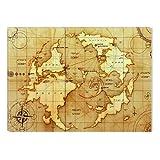 Ancient World Map Canvas Wall Art, 5 Stars Gift 31.5 x 47.2 inch Startonight
