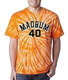"Silo Shirts TIE DIE ORANGE Madison Bumgarner San Francisco ""MAD BUM"" T-Shirt"