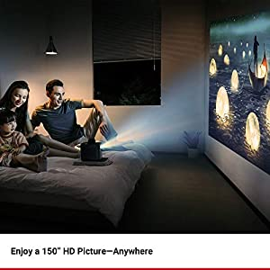 Nebula Anker, Mars II 300 ANSI lm Portable Projector 720p DLP Picture, 10W Speakers, Android 7.1, 1-Second Autofocus, 30-150'' Screen, 3-Hour Playtime, Broad Connectivity Screen Casting