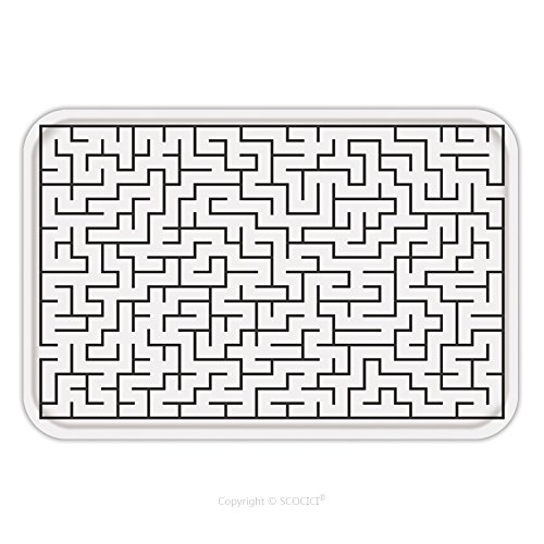 Flannel Microfiber Non-slip Rubber Backing Soft Absorbent Doormat Mat Rug Carpet Vector Illustration Of Maze Labyrinth Isolated On White Background Eps 278800979 for Indoor/Outdoor/Bathroom/Kitchen/Wo