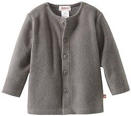 Zutano Unisex Baby Cozie Fleece Jacket,Gray,12 Months